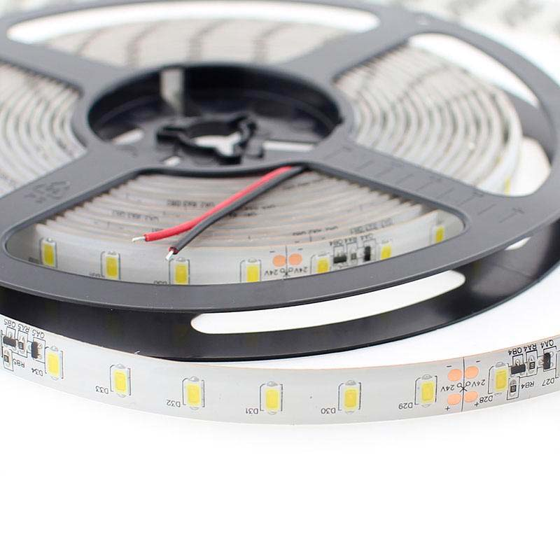 Tira LED Monocolor SMD5630, DC24V CC, 5m (70 Led/m) - Sensor Temperatura - IP65, Blanco neutro